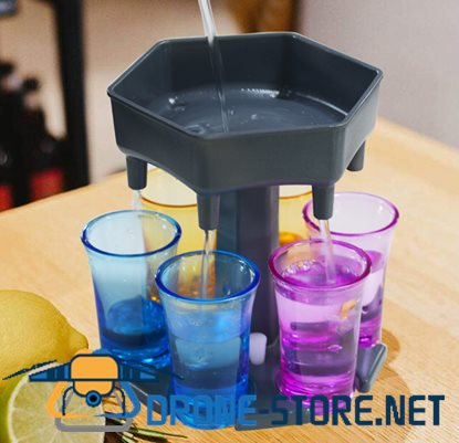 6 Shot Glass Dispenser And Carrier
